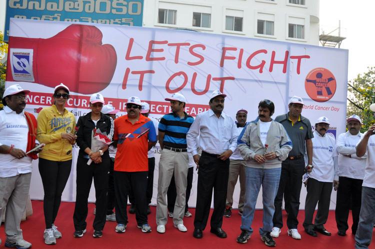 Lakshmi,Balakrishna And Sania Clicked At Cancer Awareness 2013 Event