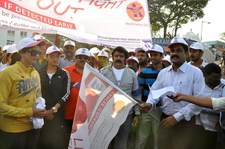 Lakshmi,Balakrishna And Sania Posed At Cancer Awareness 2013 Event
