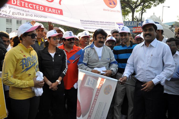 Lakshmi,Balakrishna And Sania Started The Event At Cancer Awareness 2013 Event