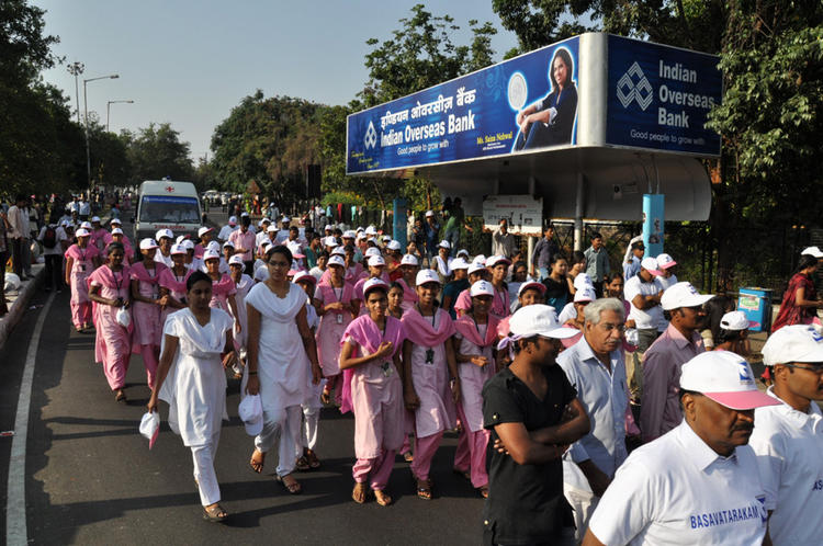 Public Are Gathered At Cancer Awareness 2013 Event