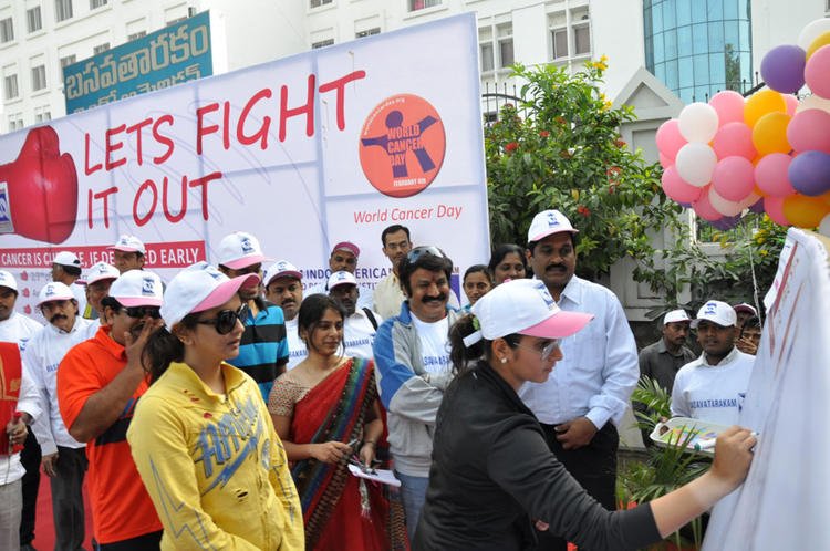 Sania Signatured And Lakshmi,Balakrishna Look On At Cancer Awareness 2013 Event