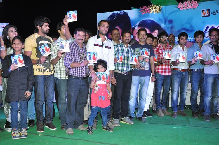 Aadhi,Nikhil,Naga Sudhir And Others Posed At Abbai Class Ammai Mass Audio Launch Function