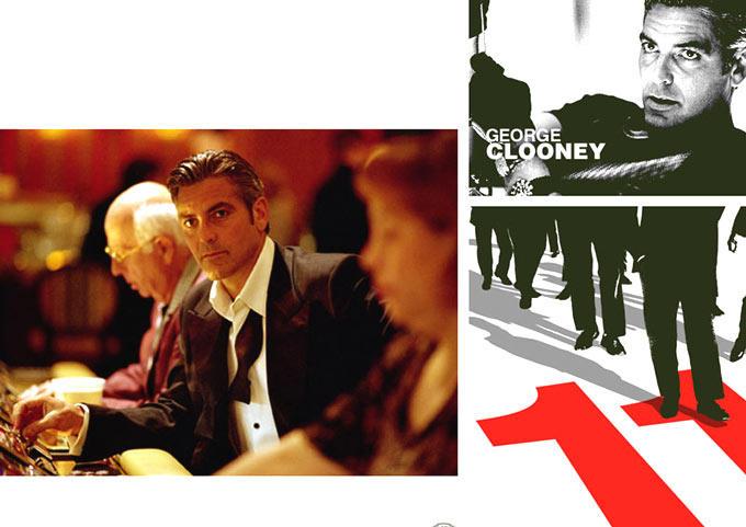 George Clooney Nice Look Still From Ocean's 11 Movie