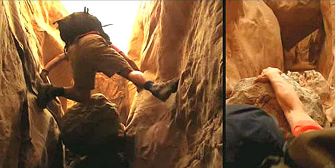James Franco Surviving Still From 127 Hours Movie