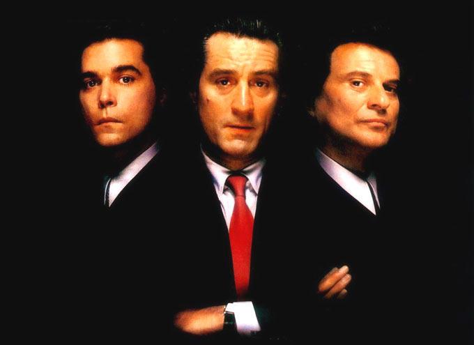 Robert De Niro,Ray Liotta And Joe Pesci In Goodfellas Movie