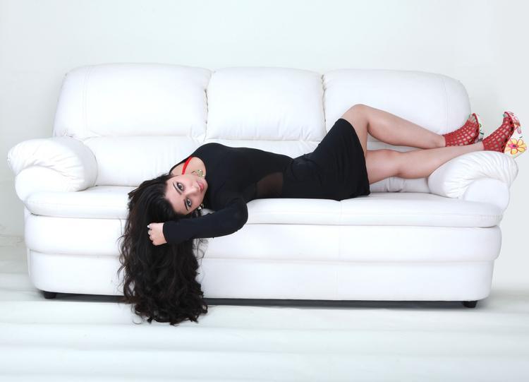 Charmy Kaur In Black Dress Exclusive Hot Look Still From Prema Oka Maikam Movie