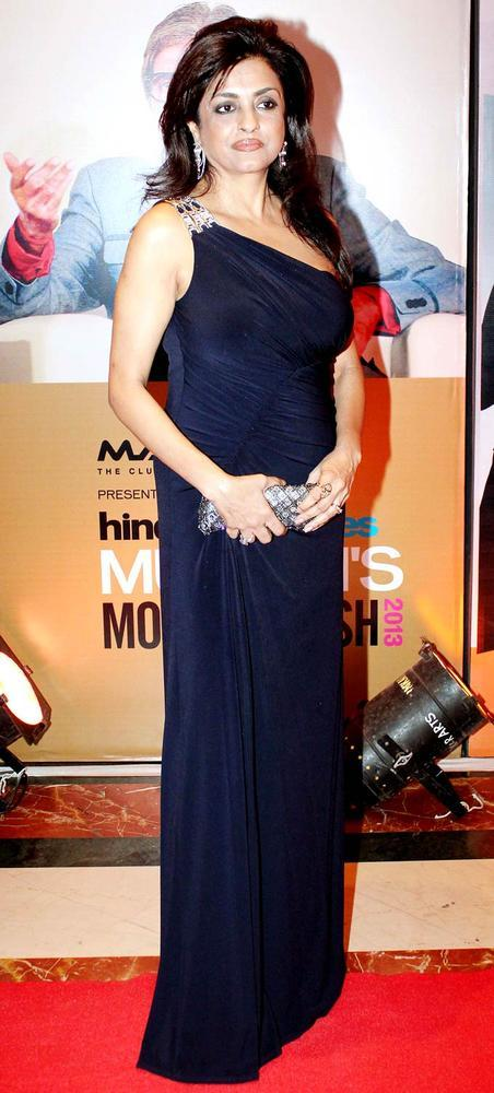 A Celeb Posed In Red Carpet At HT Most Stylish Awards 2013