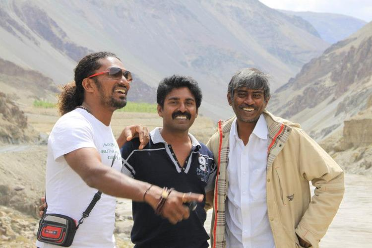 Stunt Master Silva,Shamdat And Chandra On the Sets Of Jackpot Movie