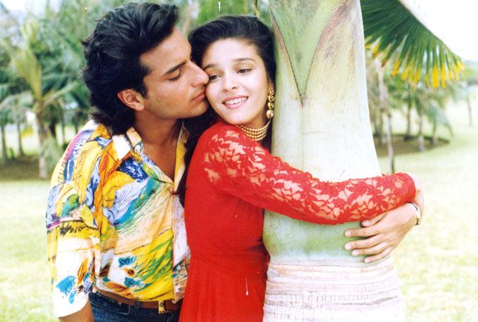 Raageshwari Loomba And Saif Ali Khan Kissing Still