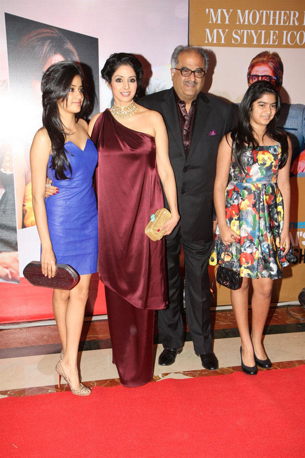 Sridevi With Hubby And Daughters Attend The Hindustan Times Style Award 2013