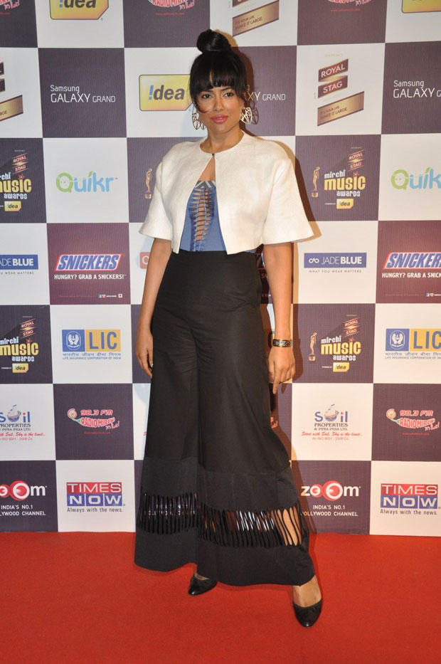 Sameera Reddy In A Different Look Pose For Camera At 5th Radio Mirchi Music Awards