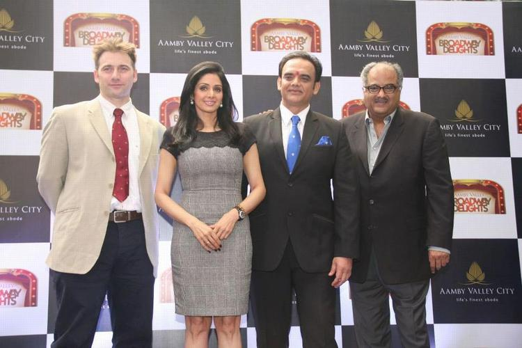 Sridevi And Hubby Boney Attend The Aamby Valley Broadway Delights Launch