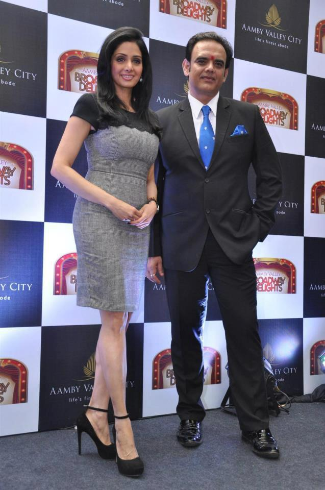 Sridevi Kapoor Clicked At Aamby Valley Broadway Delights Launch