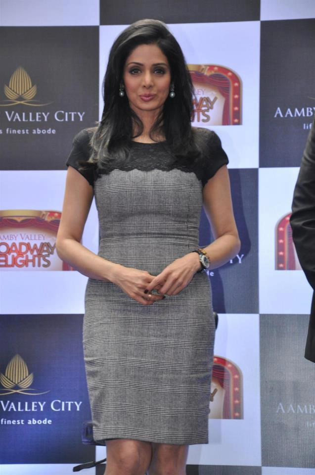 Sridevi Kapoor During The Aamby Valley Broadway Delights Launch