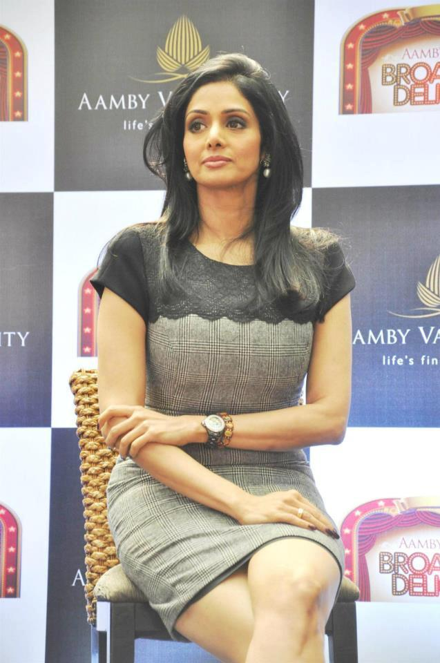 Sridevi Kapoor Nice Still At Aamby Valley Broadway Delights Launch