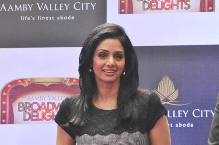 Sridevi Kapoor Smiling Still At Aamby Valley Broadway Delights Launch