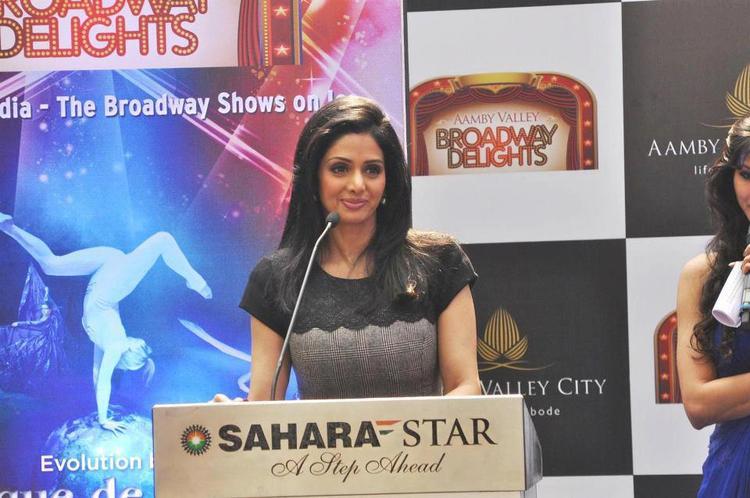 Sridevi Kapoor Speaks Still At Aamby Valley Broadway Delights Launch
