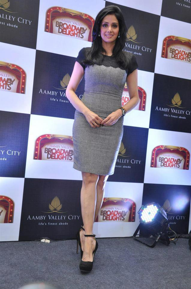 Sridevi Kapoor Strikes A Pose At Aamby Valley Broadway Delights Launch