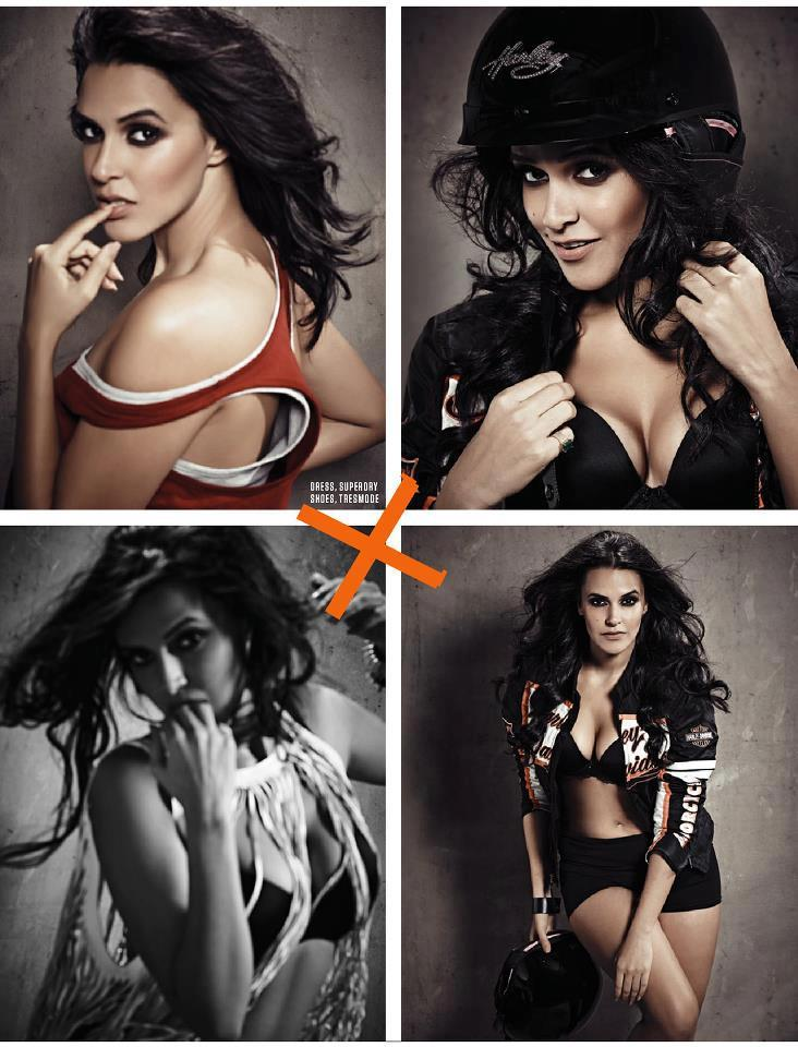 Neha Dhupia Looks Smoking Hot For FHM India Feb 2013 Issue