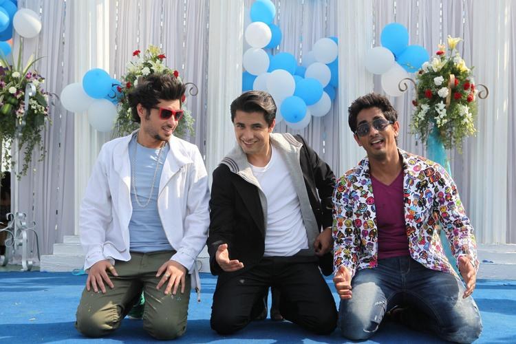Divyendu,Ali And Siddharth A Still From Chashme Baddoor Movie
