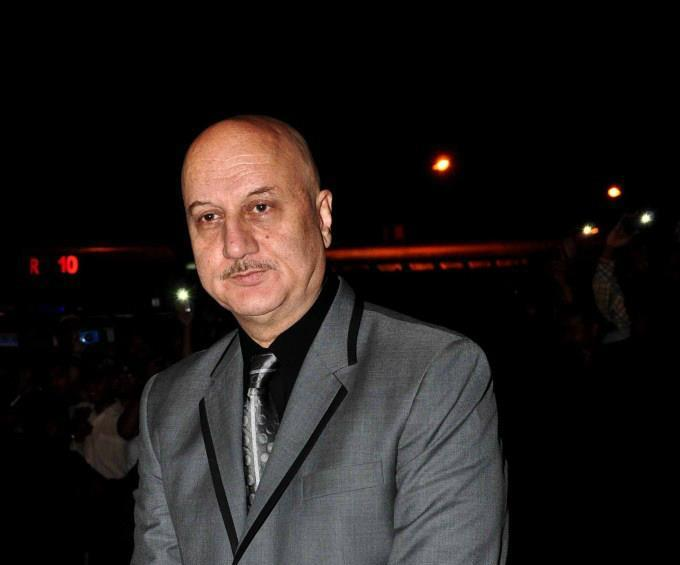 Anupam Kher Spotted At Special Chabbis Audio Release Function