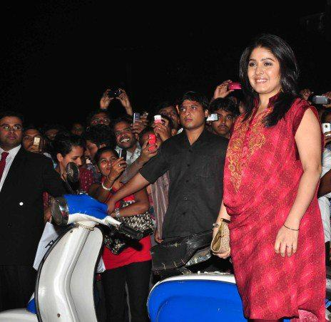 Sunidhi Make An Appearance At Special Chabbis Audio Release Function