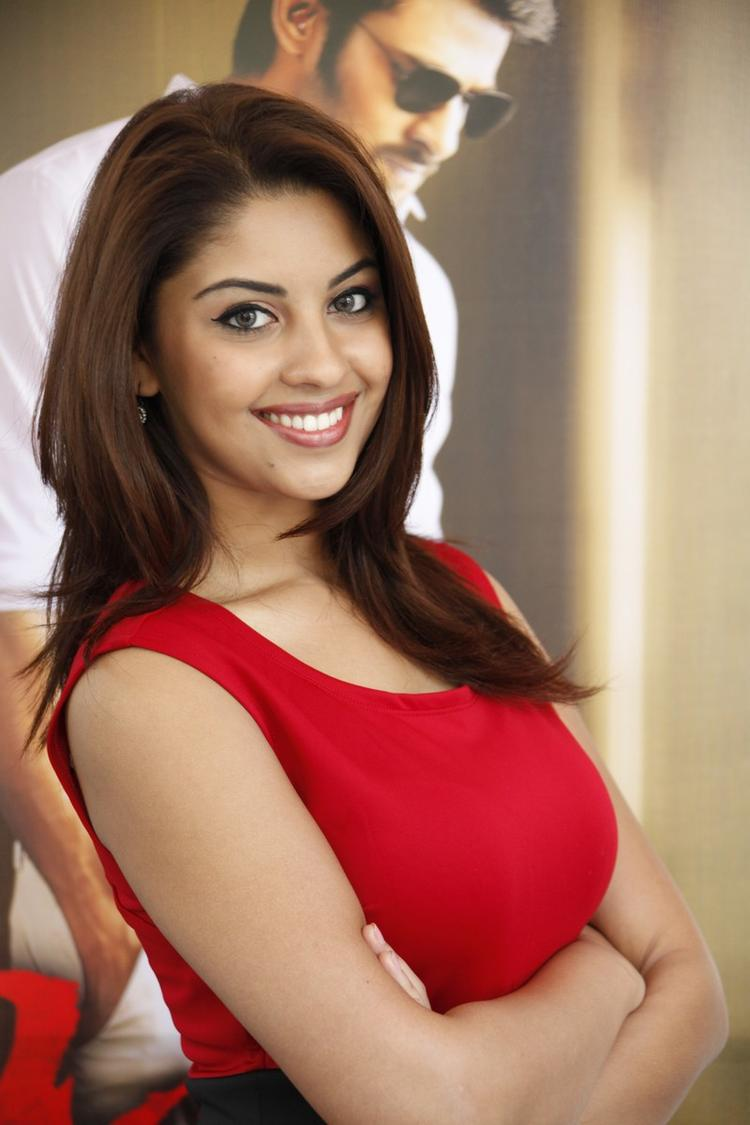 Richa Gangopadhyay In Red Dress Beautiful Look At Mirchi Movie Success Meet