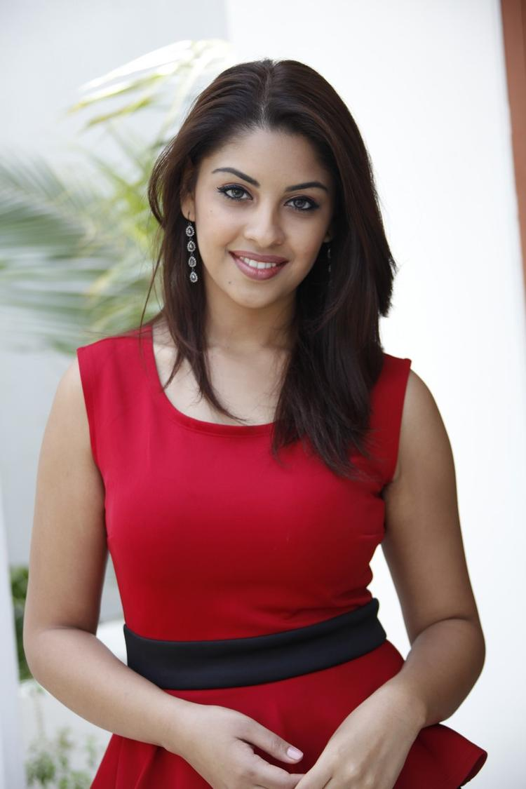 Richa Gangopadhyay In Red Dress Cute Look At Mirchi Movie Success Meet