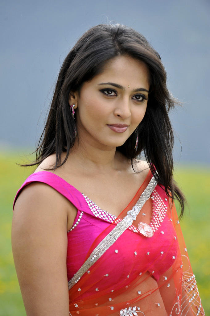 Anushka Shetty In Saree Dazzling Look Still