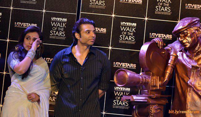 Rani And Uday Clicked At Yash Chopra Statue Unveiled Event