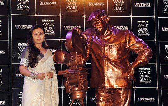 Rani Mukerji At The Unveiling Of Yash Chopra's Statute