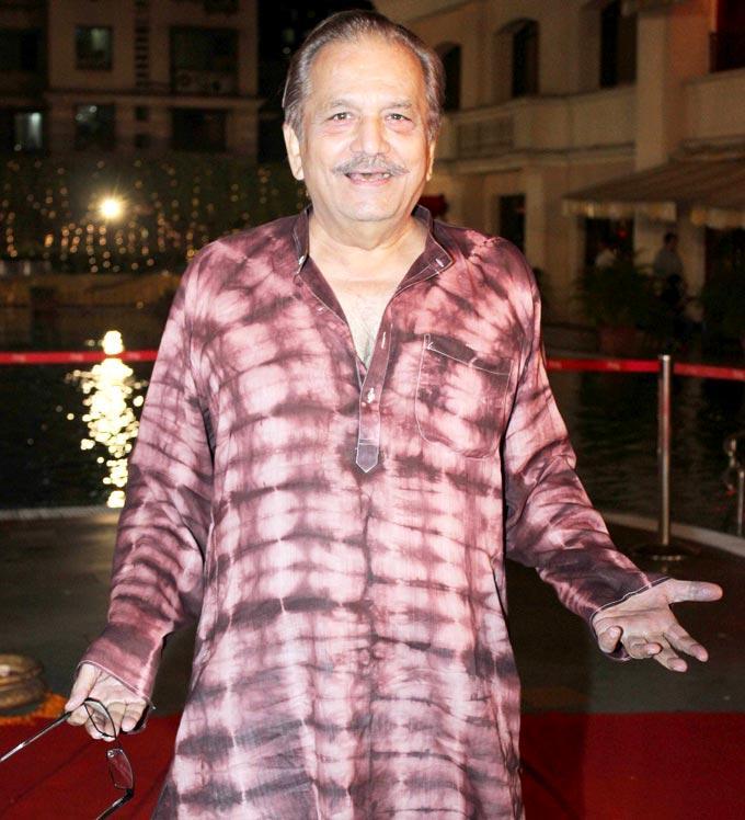 Bharat Kapoor Flashes A Smiling Pose At Anjan Shrivastav Son's Wedding Reception
