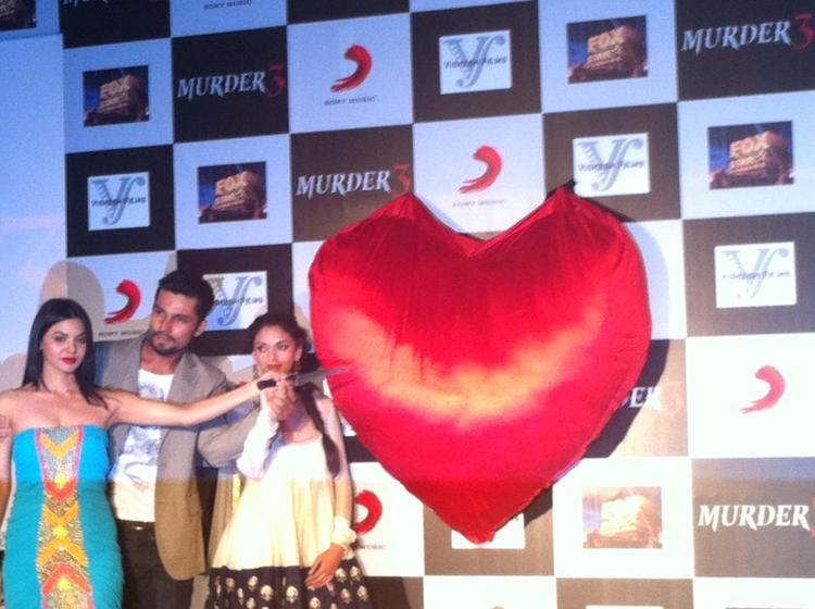 Aditi,Randeep And Sara During The Murder 3 Music Success Party