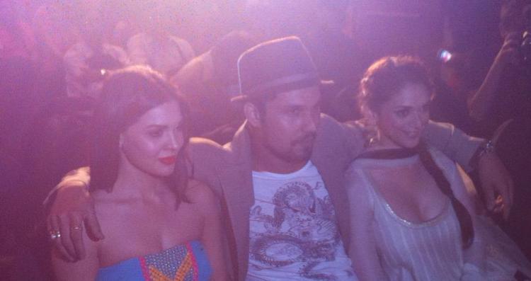 Aditi,Randeep And Sara Enjoy The Programme At Murder 3 Music Success Party