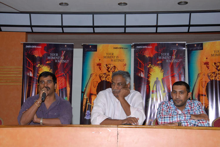 Suresh And Tammareddy Speak Out Photo Clicked At Tamili Movie Pizza Press Meet
