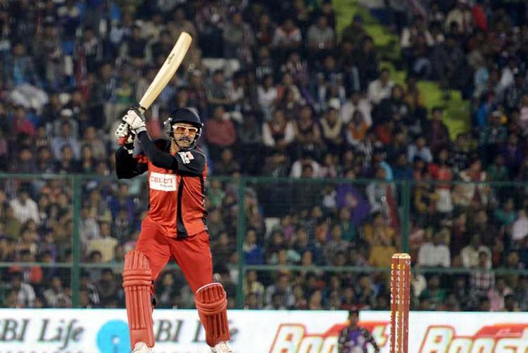 A Telugu Warrior Batsman Play A Shot Photo Still