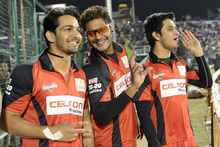 Telugu Warriors Snapped In Amusing Moments During The Match