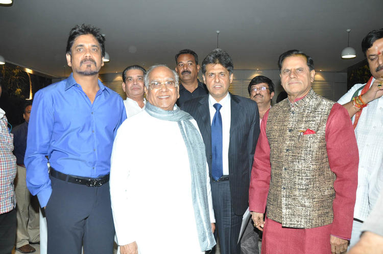Anr,Nageswara,Manish And T Subbarami Pose For Camera At ANR Award Ceremony Function