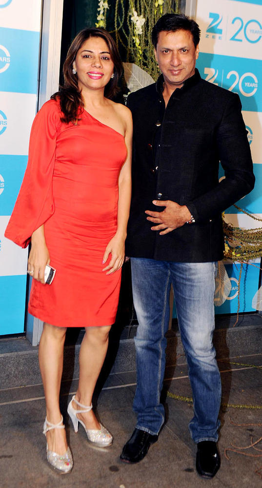 Madhur With Wife Renu Make An Appearance At 20th Anniversary Bash Of ZEE TV
