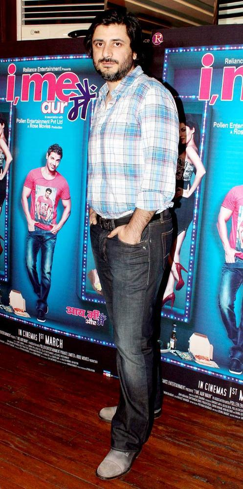 Producer Goldie Behl Posed During The At I Me Aur Main Movie Press Meet