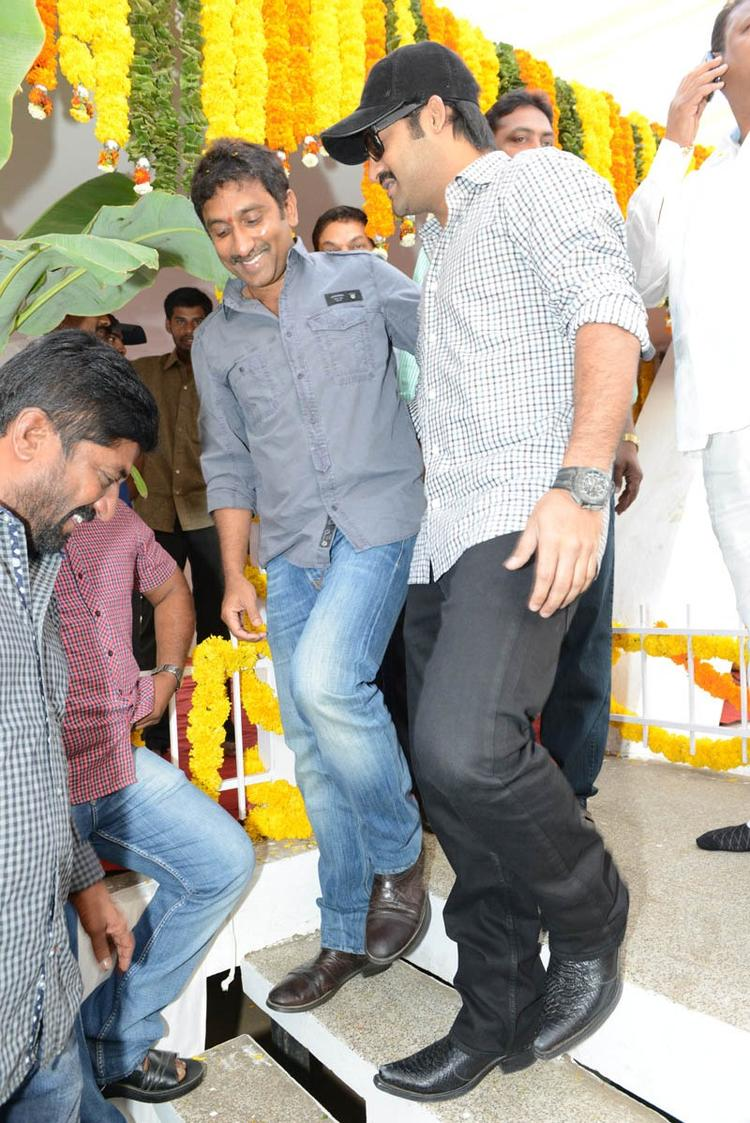 Jr. NTR And Srinu Vaitla Gossip Still At Jr NTR Santosh Srinivas Movie Launch Event