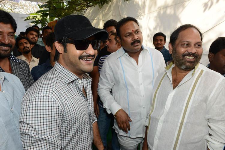 Jr. NTR Smiling Look Still At Jr NTR Santosh Srinivas Movie Launch Event