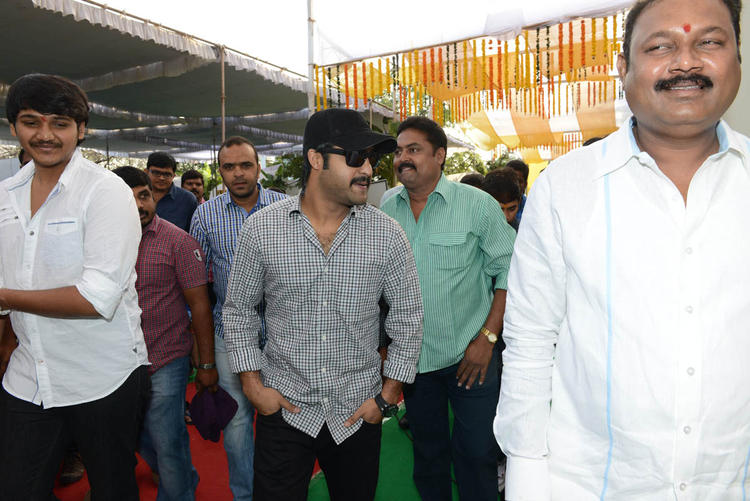Jr. NTR Walks In At Jr NTR Santosh Srinivas Movie Launch Event