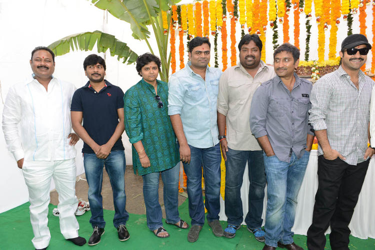 Jr. NTR,Srinu And Bellamkonda Clicked At Jr NTR Santosh Srinivas Movie Launch Event