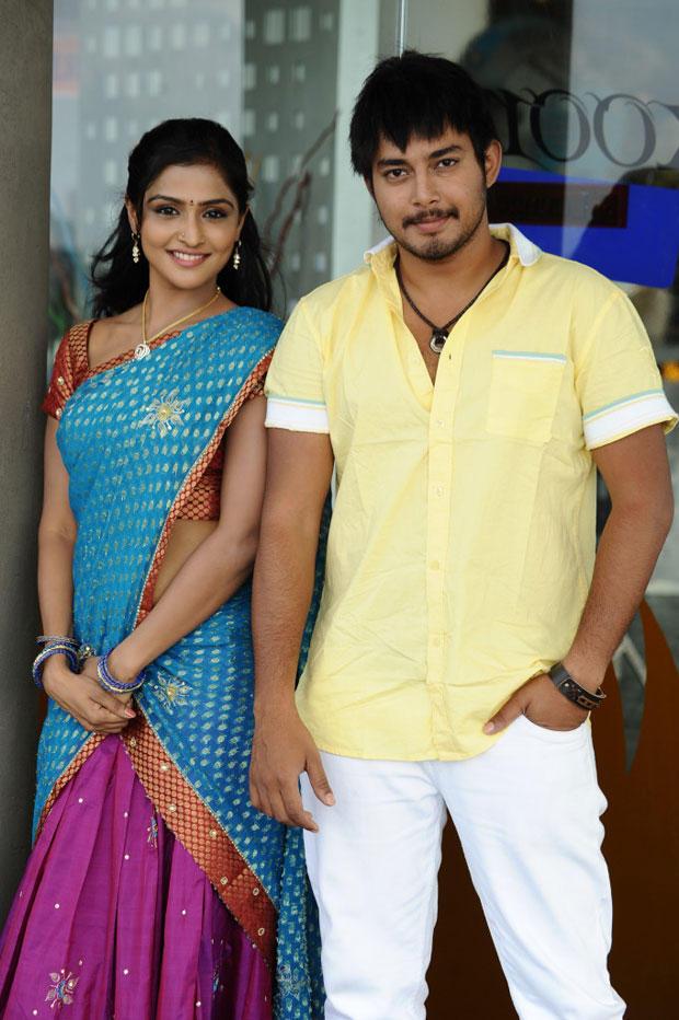 Remya Nabeeshan And Tanish Alladi Cool Smiling Pose Still From Telugabbai Movie