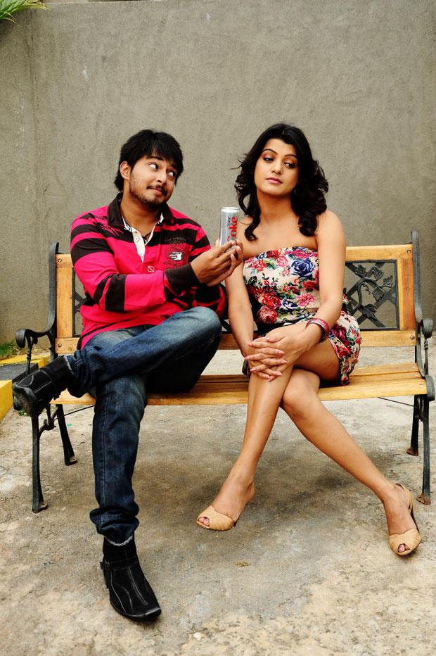 Tanish Alladi And Tashu Kaushik Cool Still From Telugabbai Movie