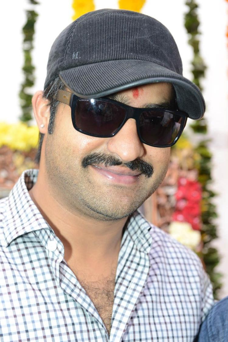 Jr. NTR Handsome Look At Jr NTR Santosh Srinivas Movie Launch Event