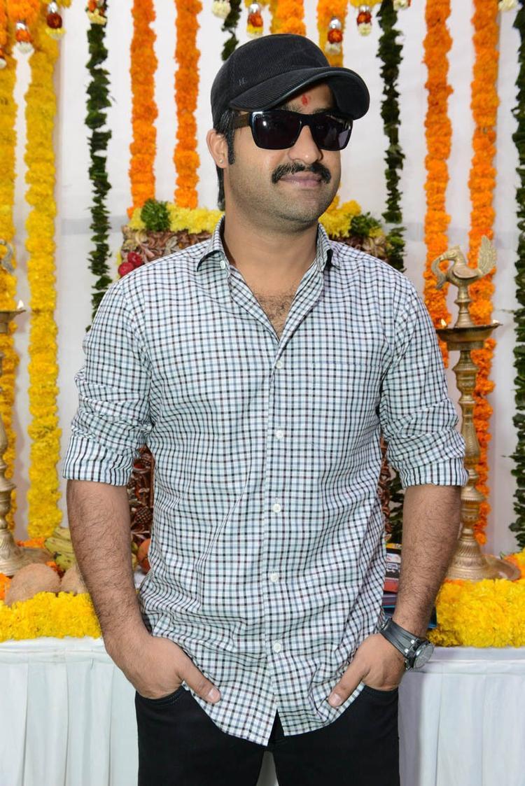 Jr. NTR Stylish Look Still At Jr NTR Santosh Srinivas Movie Launch Event