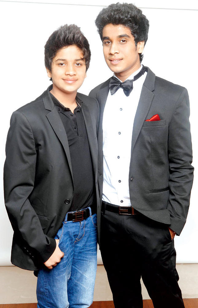 Vanil With Rahil Looking Dapper In Suit At His 18th Birthday Bash