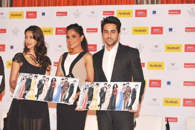 Ileana,Richa And Ayushmann Launched Filmfare Special Award Issue